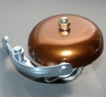 Кафяв алуминиев звънец с чукче